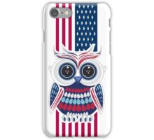 Patriotic Owl 2 iPhone Case/Skin