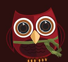 The Red Owl - Large by Adamzworld