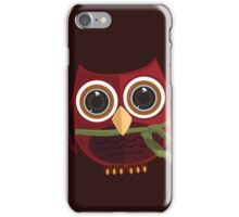The Red Owl - Large iPhone Case/Skin
