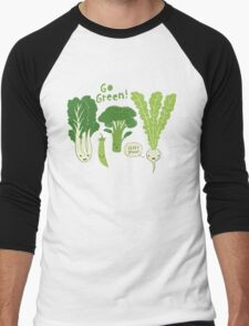 Go Green! (Leafy Green!) Men's Baseball ¾ T-Shirt