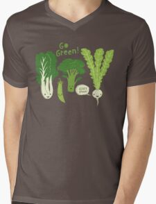 Go Green! (Leafy Green!) Mens V-Neck T-Shirt