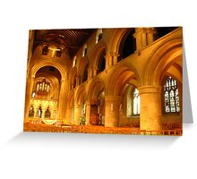 Norman Arches, Southwell Minster Greeting Card