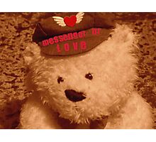 The Love Of An Old Teddy Photographic Print