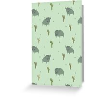 Bison Pattern Pistachio Greeting Card