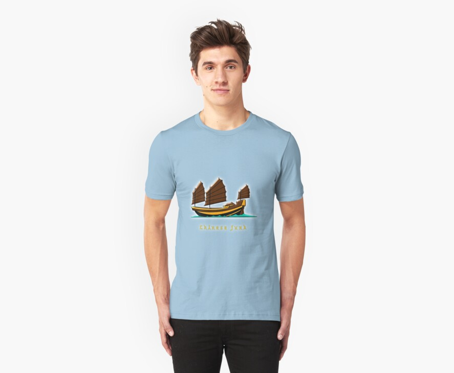 Chinese Junk T-shirt, etc. design by Dennis Melling