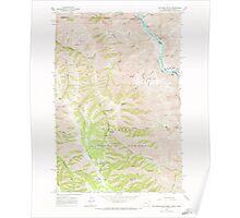 USGS Topo Map Oregon Jim Creek Butte 280323 1963 24000 Poster