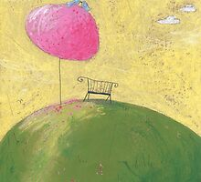 The bench under the cherry tree. by Tine  Wiggens
