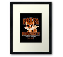 Foxes University  2 Framed Print