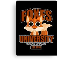 Foxes University  2 Canvas Print