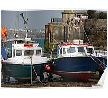Newquay Harbour - Cornwall - UK Poster