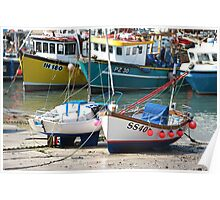 Fishing Boats - Newquay Harbour - Cornwall Poster