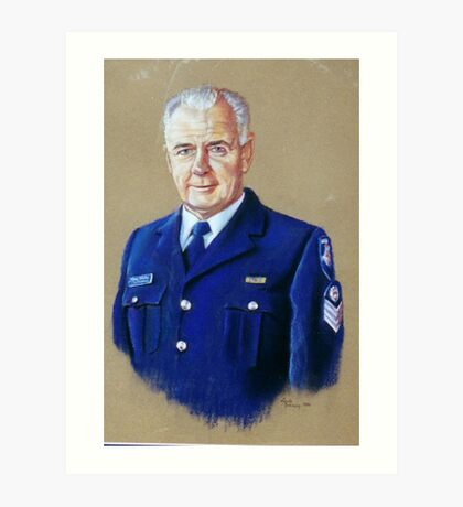 Portrait of Senior Sergeant Greg Quillinan Art Print