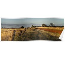 Back road to Parkes Radio Telescope NSW Poster
