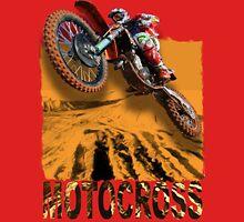 Motocross In Action 3D Art Design Unisex T-Shirt