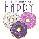 Donuts Make Me Happy by Adamzworld