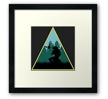 Link In The Forest Framed Print