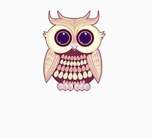 Pink Yellow Owl Womens Fitted T-Shirt