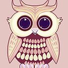 Pink Yellow Owl by Adamzworld