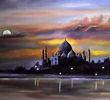 Taj Mahal at Sunset by Ian Morton