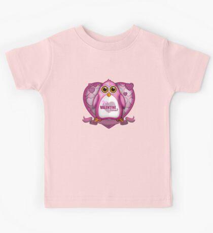 Valentine Loved - Pink Penguin Kids Tee