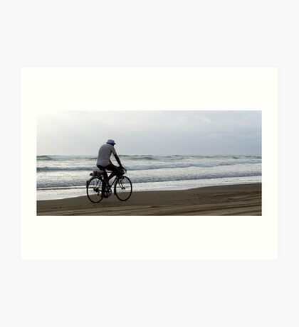 Baylys Beach bikey Art Print
