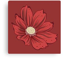 Reddish Flower Canvas Print