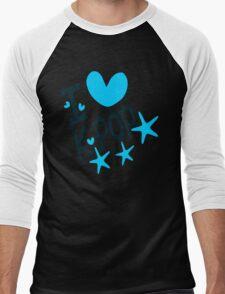 I loveKPOP txt hearts stars vector graphic art  Men's Baseball ¾ T-Shirt