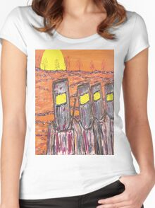 Ned Kelly's Gang at Sunset   EJCairns Women's Fitted Scoop T-Shirt