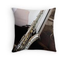 Saxophone Magic Throw Pillow