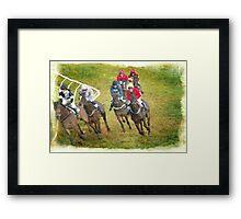Race for the Winning Post Framed Print