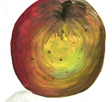 Water Colour Apple by Bethany Olechnowicz