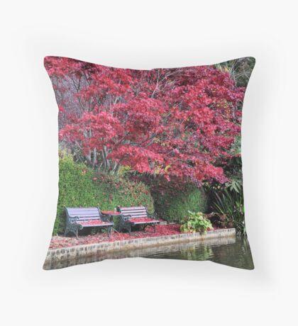 QUIET CORNER - Bev Woodman Throw Pillow