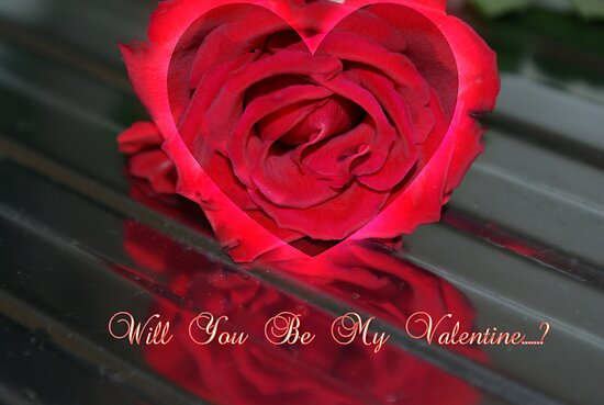 Will You Be My Valentine...? ~ Greeting's Card by Sandra Cockayne