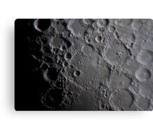 Lunar Craters Canvas Print
