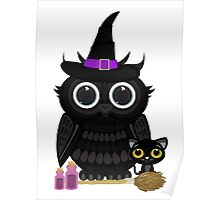 Black Owl Witch Poster
