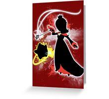 Super Smash Bros. White/Red Rosalina Silhouette Greeting Card