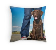 Ruby & the red shoes Throw Pillow