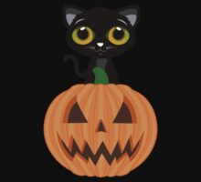 Black Kitten & Jack O Lantern Kids Clothes