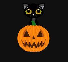 Black Kitten & Jack O Lantern Unisex T-Shirt