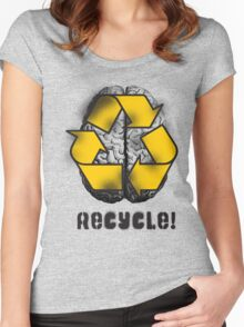 Recycle! Women's Fitted Scoop T-Shirt