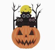 Jack O lantern & Owls Baby Tee