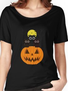 Jack O lantern & Owls Women's Relaxed Fit T-Shirt