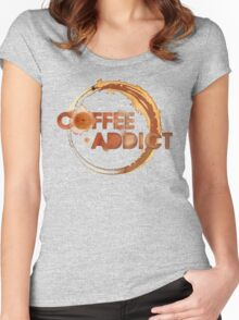 Coffee Addict Women's Fitted Scoop T-Shirt