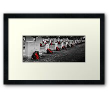 lonely holidays Framed Print