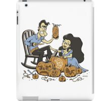 Army of carved pumpkins iPad Case/Skin