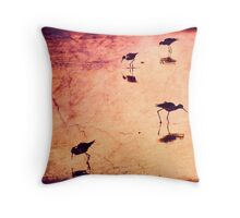 Stilts in red Throw Pillow