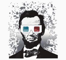 Abraham Lincoln - 3D (2) (Black) Kids Clothes