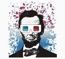 Abraham Lincoln - 3D (Black) Kids Clothes