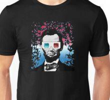 Abraham Lincoln - 3D (Black) Unisex T-Shirt