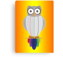 Rainbow Owl (Orange Yellow) Canvas Print